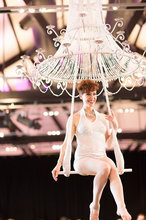 Champagne Chandelier - Sacred Circus