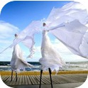 SNOW QUEENS STILT WALKERS  (VIC / NSW)