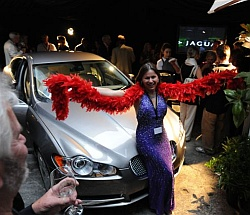 Tania de Jong at the Jaguar XF Launch