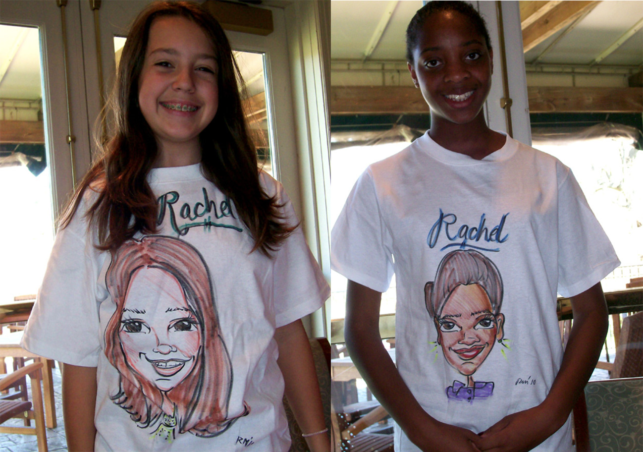 CARICATURES ON T-SHIRTS